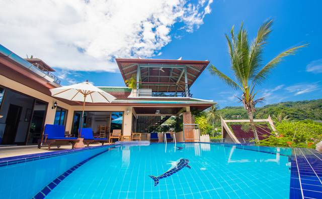 Private Villa in Phuket - Malee Outdoor Pool Area